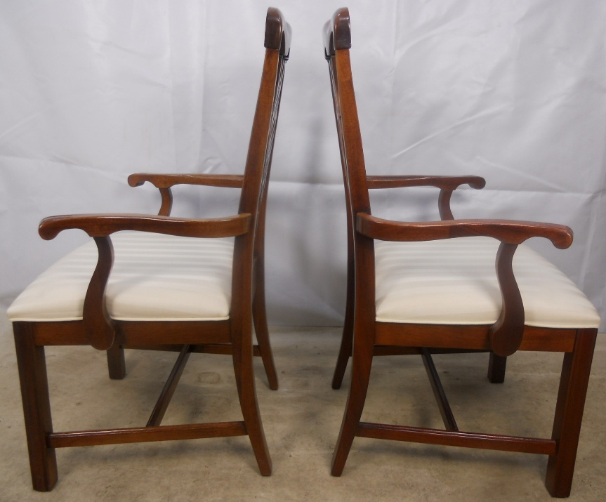 Set of Eight Antique Georgian Chippendale Style Mahogany Dining Chairs -  SOLD - Set Of Eight Antique Georgian Chippendale Style Mahogany Dining
